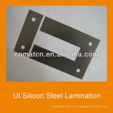 Laminação de aço silício de interface do usuário