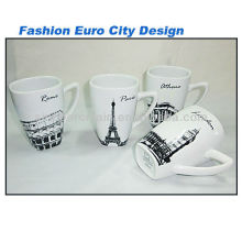 Fashion City Design 11OZ Porcelain Square Mug For BS130601A