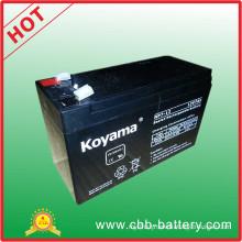 12V7ah Battery Sealed Lead Acid Battery 12V5.5/6.5/7/7.2/7.5/8.5/9ah
