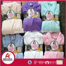 200-280gsm coral fleece stock plush bathrobe