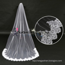 High Quality 1 Layer Long Lace 3M Bridal Veils Cathedral Bridal Bride Veils