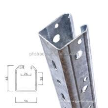 metal grape pole stakes/galvanized steel vineyard trellis post