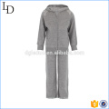100% Cashmere sport wear for kids hoodies & pants gym wear set