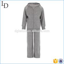 100% Cashmere sport wear para crianças hoodies & pants gym wear set