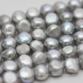 10-11mm Gray Baroque Nugget Biwa Freshwater Pearls Strands (E190018)