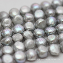 10-11mm Grey baroque Nugget Biwa perles d'eau douce brins (E190018)