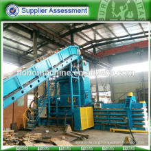 Full automatic horizontal baler press for cardboard