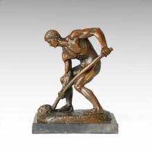 Estatua oriental Escultura tradicional del bronce del granjero TPE-380