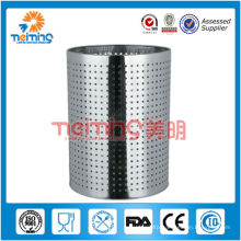stainless steel hotel waste basket, wastebasket