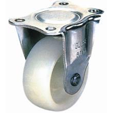 Light Duty Fixed Nylon Caster Wheel for Furniture (White)