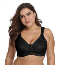 In-stock plus size front open bra