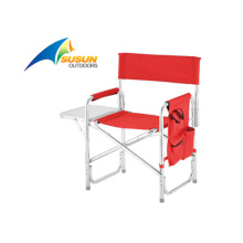 Director Chair with Side Table and Pocket