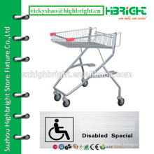 metal shopping cart trolley for disabled