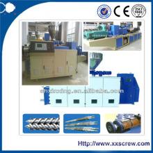Máquina de extrusión de plástico de doble tornillo cónico