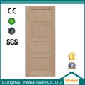 Porte en bois solide de trembleur de panneau de quatre pour la pièce intérieure