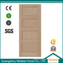 Porta de madeira contínua do abanador de quatro painéis para o quarto interior