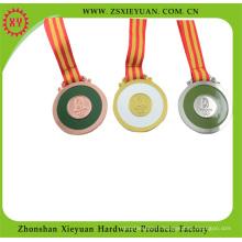 Médaille or / argent / métal en cuivre pour le sport (XY-Hz1046)