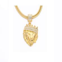 Großhandel Männer Iced Out Alloy Gold Halskette, Death Row Aufzeichnungen Ruby Schmuck Gold Anhänger Hip Hop Halskette