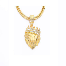 Wholesale Men Iced Out Alloy Gold Necklace, Death Row Records Ruby Jewelry Gold Pendant Hip Hop Necklace