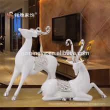 Decoración de la boda decoración de la sala de spa resina artes de la forma ciervos