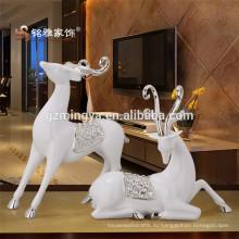 Свадебное украшение спа комнаты декор смолы ремесел олень форма