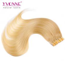 100% Реми уток кожи человеческих волос на продажу