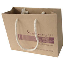 Impression de sac de papier d'emballage de sac à provisions fait sur commande de haute qualité