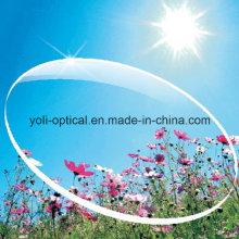 65mm Asp UV400 1.56 Lentille optique Super Hydrophobic Green Coating