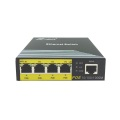 Gigabit Ethernet POE Switch 4 Portar Omanövrerad