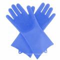 Luvas para lavar roupa doméstica Luvas para esfregar de silicone
