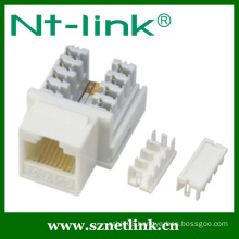 white color cat.5e krone IDC rj45 keystone jack
