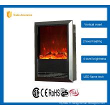 Vertical classique insert cheminée électrique grand appareil de chauffage