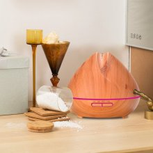 400ml wood grain mist humidifier