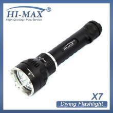 Prix de gros à grande distance 18650/26650 lampe torche à led lampe à base magnétique