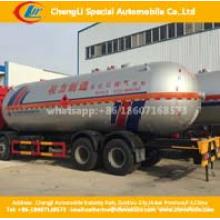 2axles 40, 000liters LPG Gás Cyliner Reboque de tanque de armazenamento