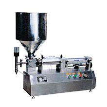 Small Automatic Food Thick Liquid Paste Filling Machine For Milk olive oil chocolate