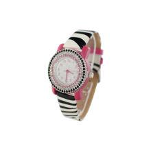 Zebra Leather Waterproof Quartz Watch Water Resistant Girls Automatic Watch