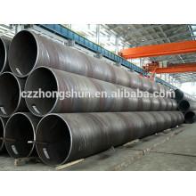 Q235 Tubo ou Tubos de Aço de Carbono Soldado Espiral de Diâmetro Grande SSAW