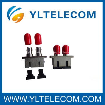 SC To ST Hybrid Optical Adaptor Duplex Or Simplex Zirconia Ceramic Single mode