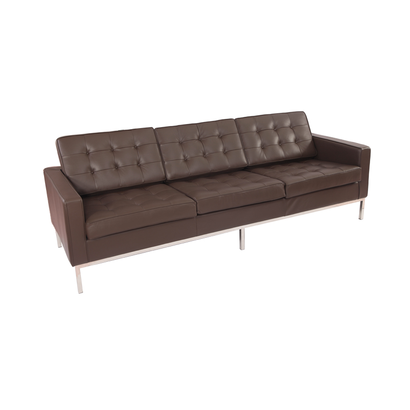 leather knoll sofa 3 seater