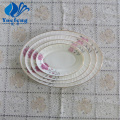 Opal Glass Pressing Oval Plate