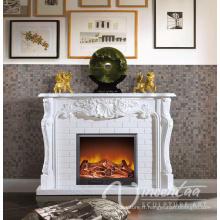 Maison européenne décoration blanc marbre cheminée surround prix