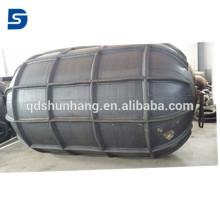 Marine Rubber Pneumatic Rib Fender For Berthing Ship Protection