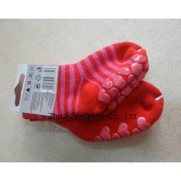 Дети дети Baby скольжения носок с резиновой подошвы
