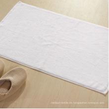 Toalla de piso del estera de baño del hotel del blanco del llano 100% algodón