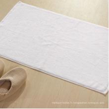 100% coton plaine blanche serviette de plancher de bain de plancher d'hôtel
