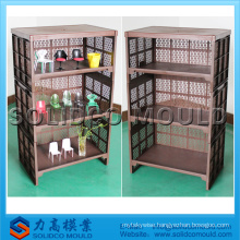 High strength plastic bookshelf mold storage rack injection mould manufacturer