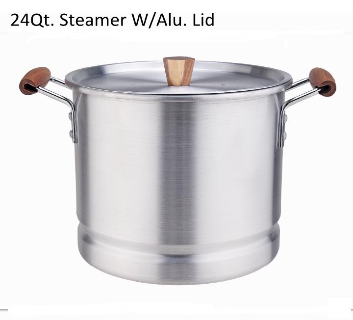 24qt Steamer W Alu Lid