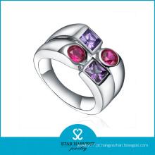 2016 rhodium plated novo design anéis jóias de prata (r-0428)