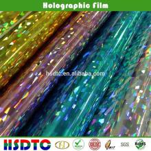 Película holográfica PET / Laser Film para impressão UV com certificado SGS